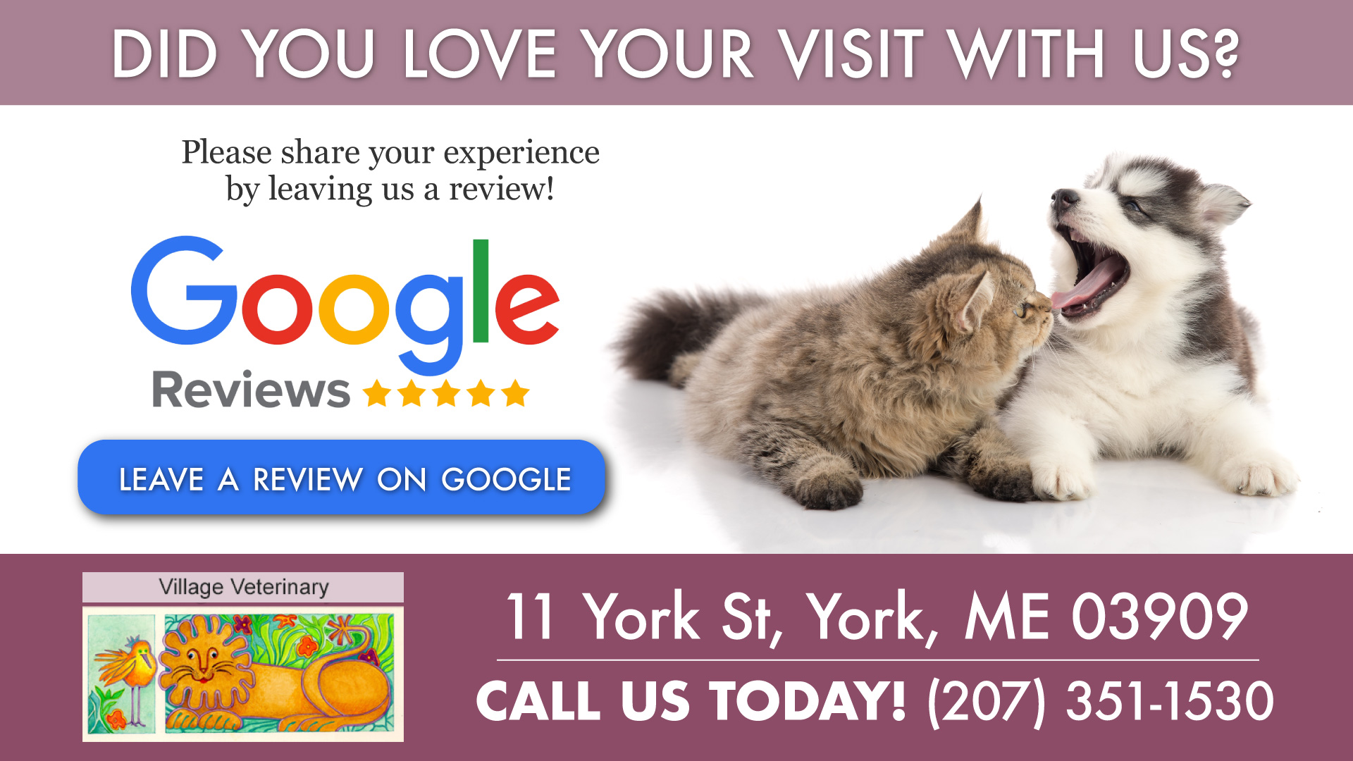 Review Us | Village Veterinary
